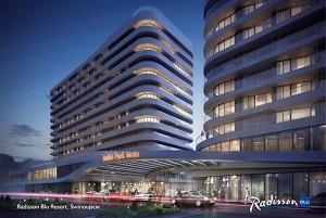 Tak właśnie będzie wyglądał nowy hotel marki Radisson Blu w Świnoujściu / źródło: ehotelier.com