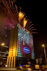 Jedną z atrakcji podczas ceremonii otwarcia był pokaz sztucznych ogni.
